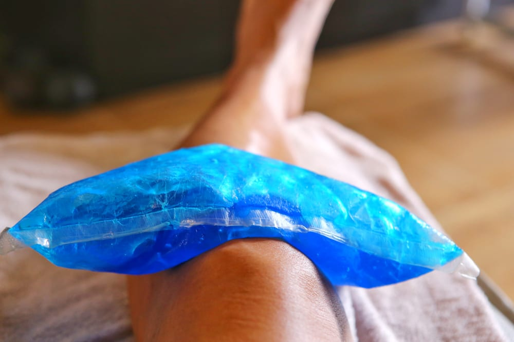 ice bag to reduce stretch
