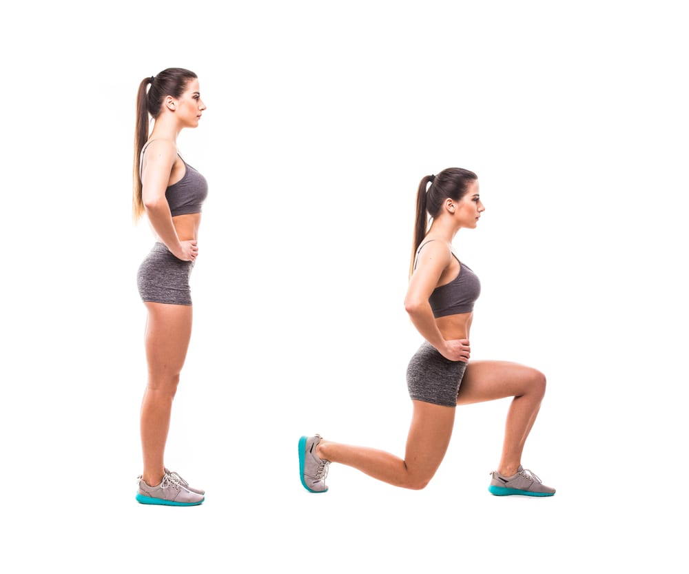 a woman doing excercise